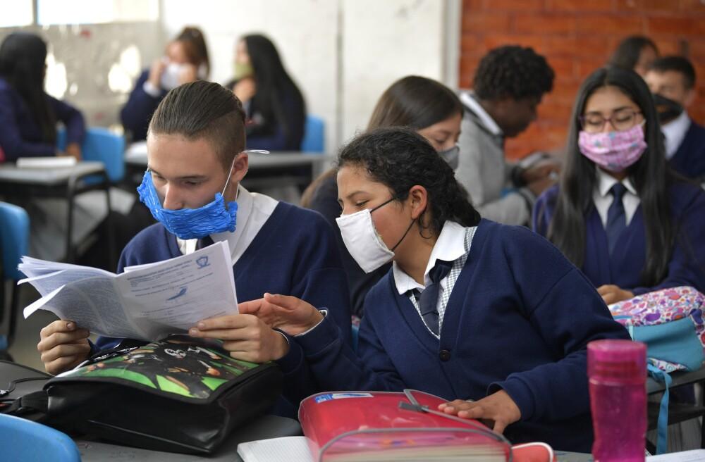 357952_Estudiantes en Colombia. Foto: Referencia AFP