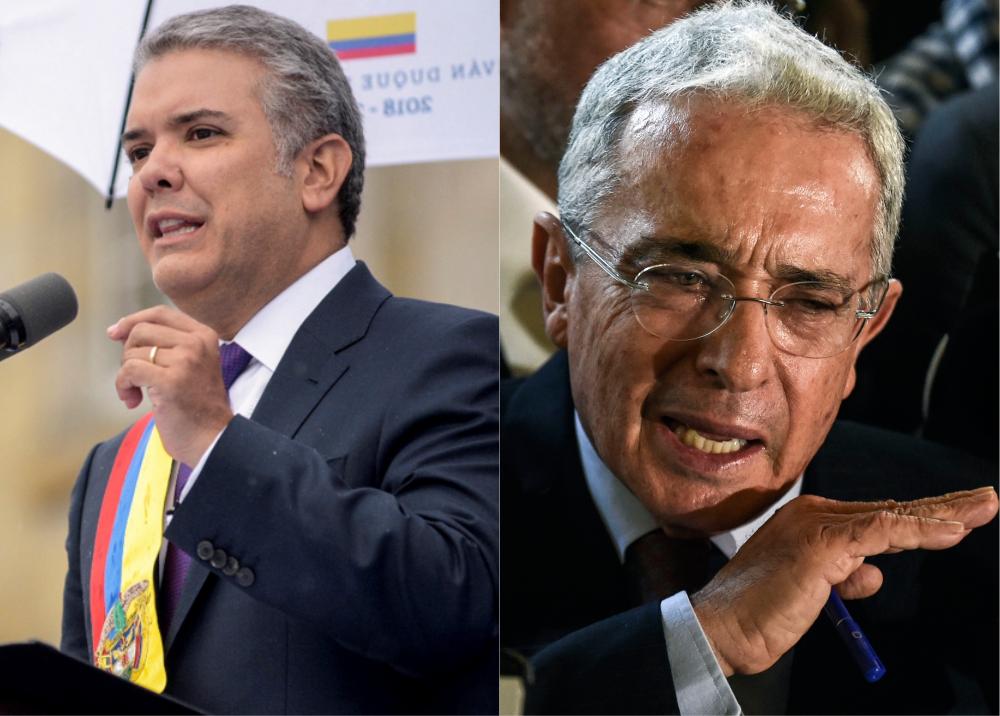 312817_BLU Radio / Iván Duque Márquez y Álvaro Uribe / Foto: AFP