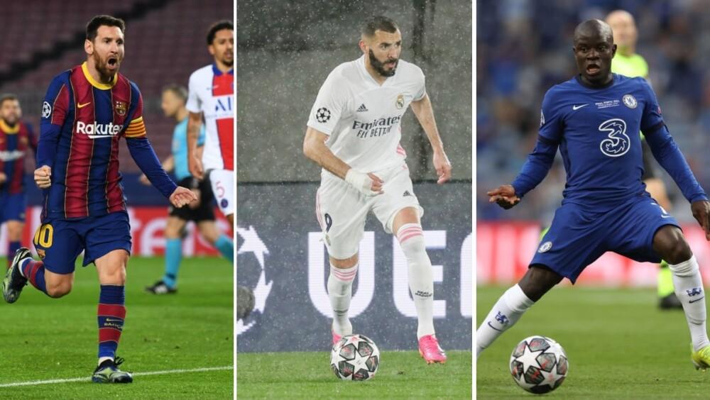Lionel Messi, Karim Benzema y N'Golo Kanté. Getty Images (1).jpg