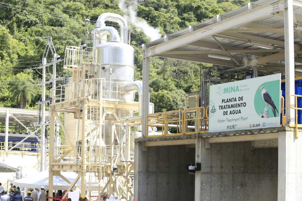Planta de tratamiento de agua de la mina de oro en Buriticá, Antioquia