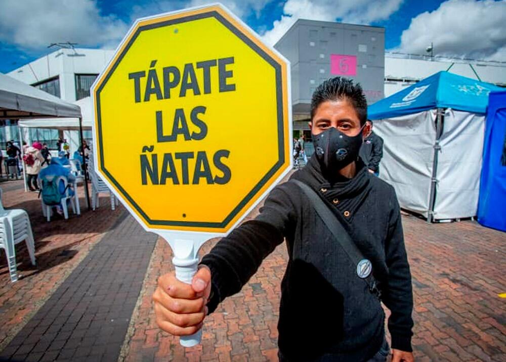 374696_Campaña de salud preventiva durante la pandemia en Bogotá // Foto: Facebook Alcaldía de Bogotá