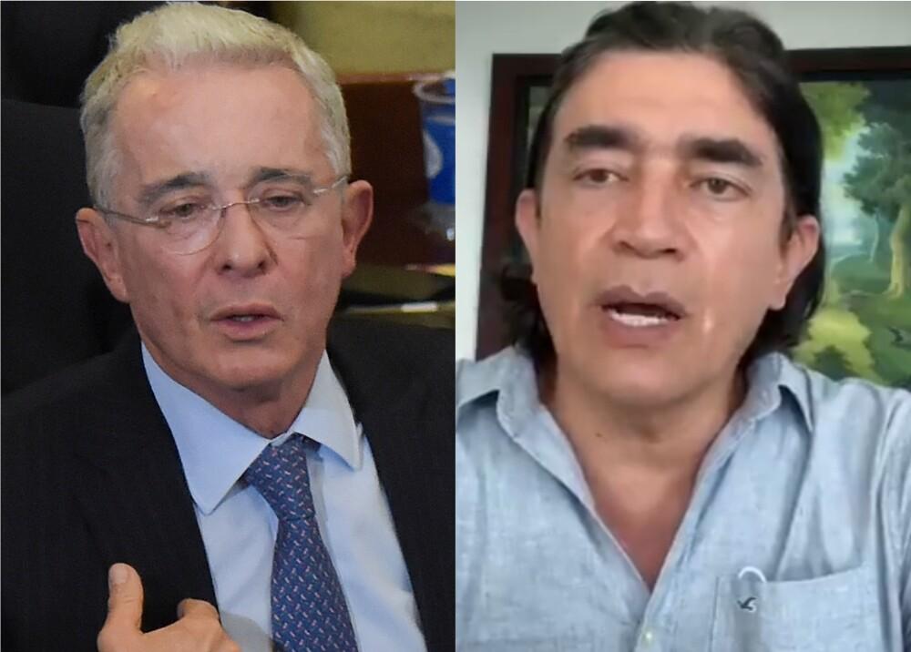 364766_Álvaro Uribe y Gustavo Bolívar // Fotos: AFP, Twitter Gustavo Bolívar