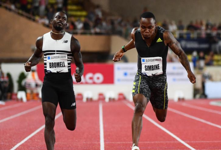 Trayvon Bromell y Akani Simbine son los dos grandes favoritos para ganar los 100 metros planos de los Juegos Olímpicos de Tokio 2020.