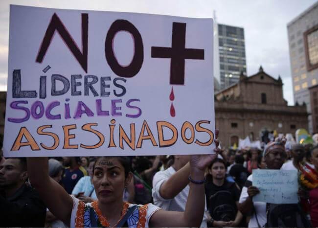 Asesinato de líderes sociales. Foto EFE