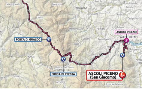 Así será la etapa 6 del Giro de Italia 2021.