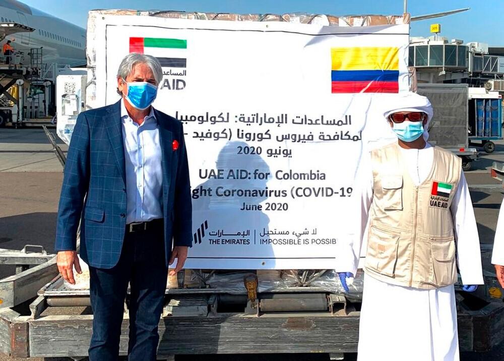 Entrega de ayudas de Emiratos Árabes Unidos a Colombia