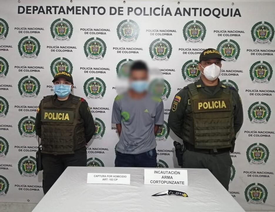 capturado por asesinar a su pareja en San Luis, Antioquia