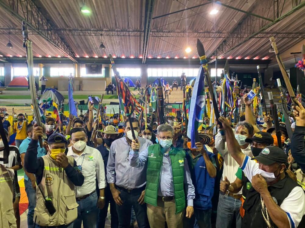 Minga indígena en Medellín.jpg