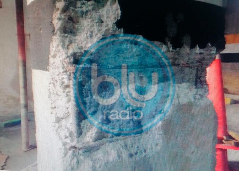 332145_BLU Radio. Columnas deterioradas del edificio Babilonia / Foto: Cortesía Alcaldía de Itagüí