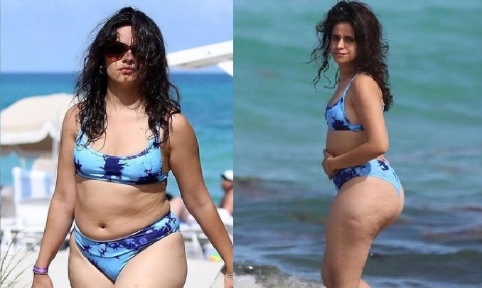 Camila Cabello presumió sus estrías, celulitis y gordos