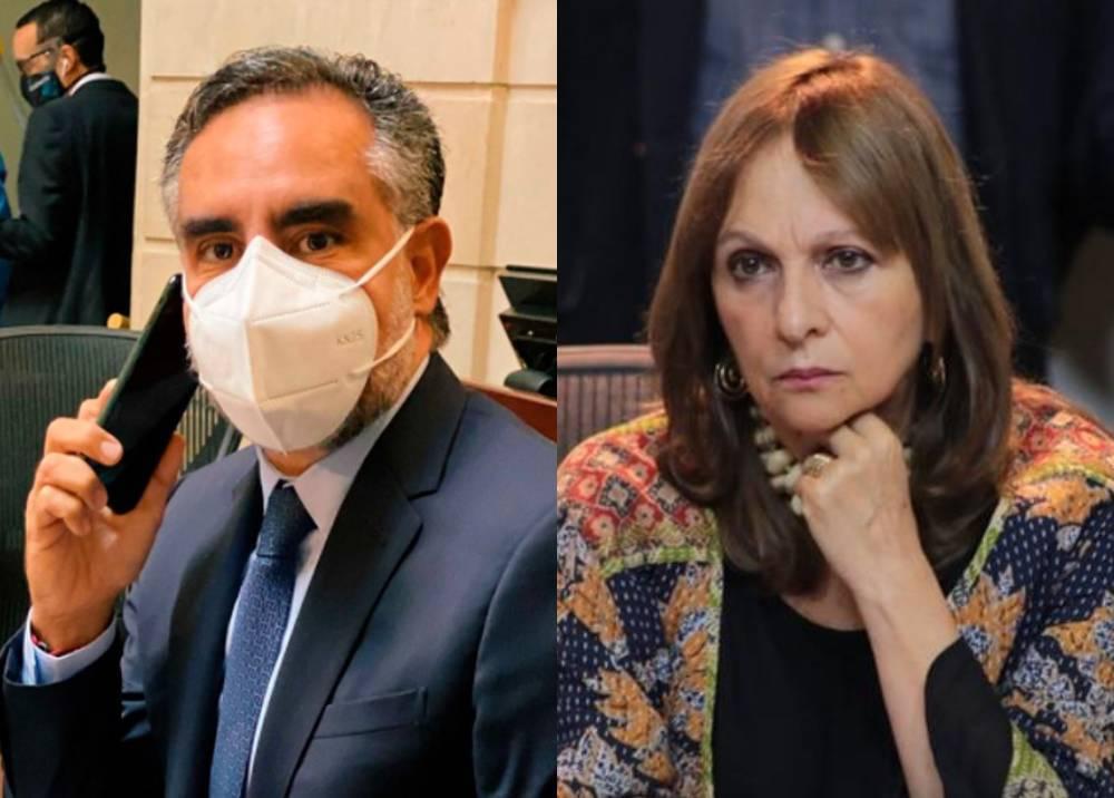 Armando Benedetti y Ángela María Robledo fotos congreso.jpeg