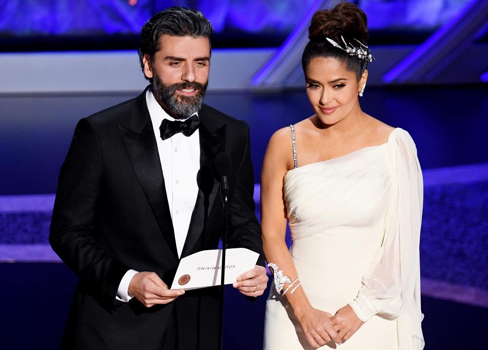 354893_BLU Radio. Oscar Isaac y Salma Hayek // Foto: AFP