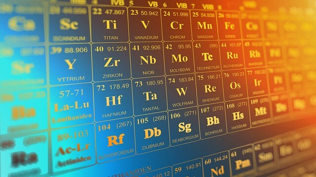 tabla periódica 3D