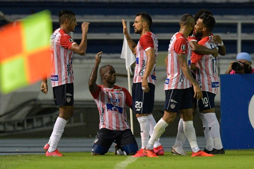 Jugadores del Junior de Barranquilla. AFP.jpg