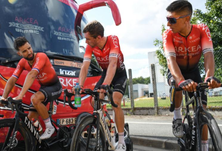 Nairo Quintana ocupa el puesto 18 de la general del Tour de Francia.