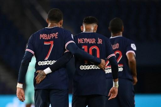 Neymar Mbappé PSG-ANGERS