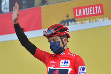 Richard Carapaz, líder de la Vuelta a España 2020.