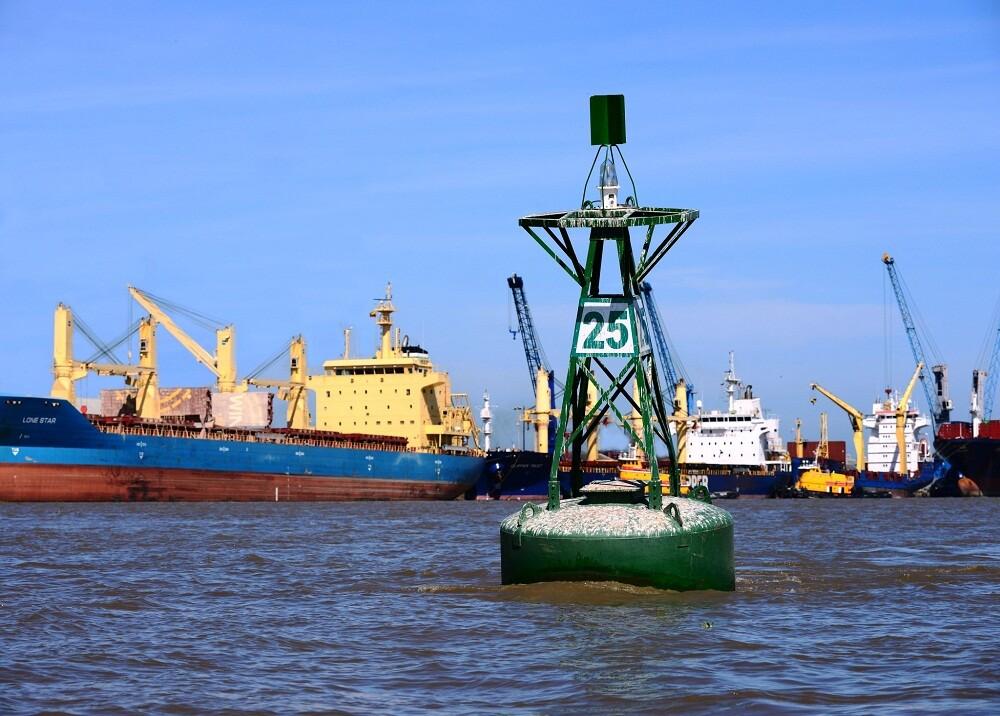 218334_Los bajos niveles del río preocupan a empresarios. Foto: Puerto de Barranquilla