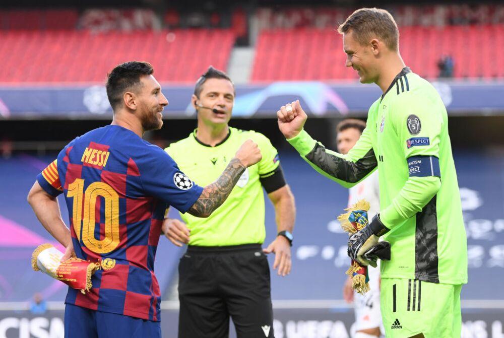 Lionel Messi y Manuel Never