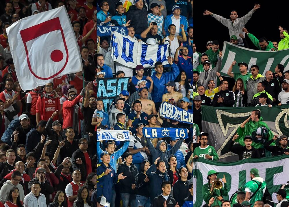 348578_Barras bravas de Santa Fe, Millonarios y Nacional se suman al paro // Fotos: AFP