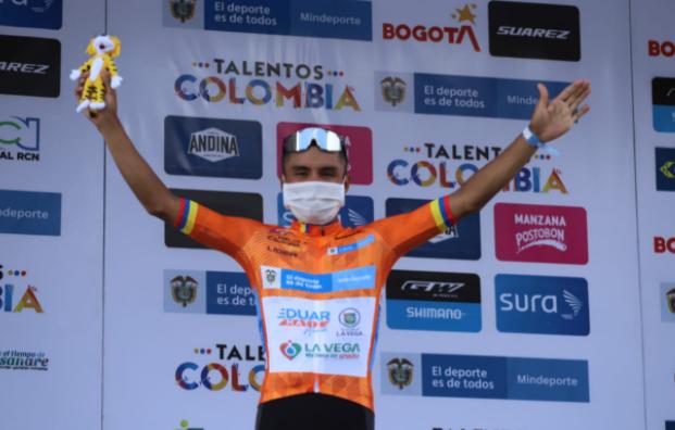 Yesid Pira es el líder de la Vuelta a Colombia tras la etapa 4. Foto: FCC.