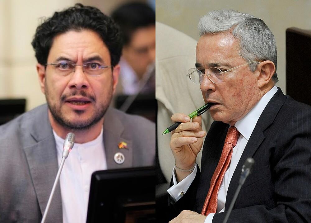 345218_Iván Cepeda y Álvaro Uribe // Fotos: cortesía Senado, AFP