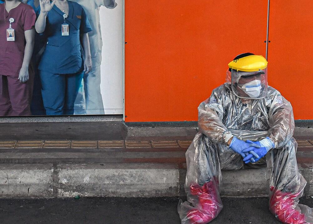 Personal médico durante la pandemia en Medellín // Foto: AFP, imagen de referencia