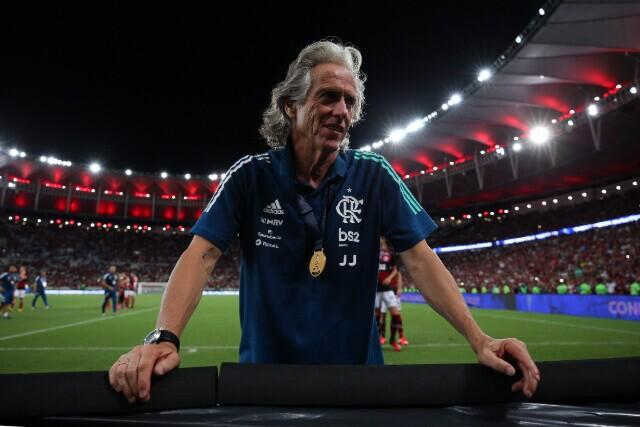 334155_Jorge Jesús, técnico de Flamengo.