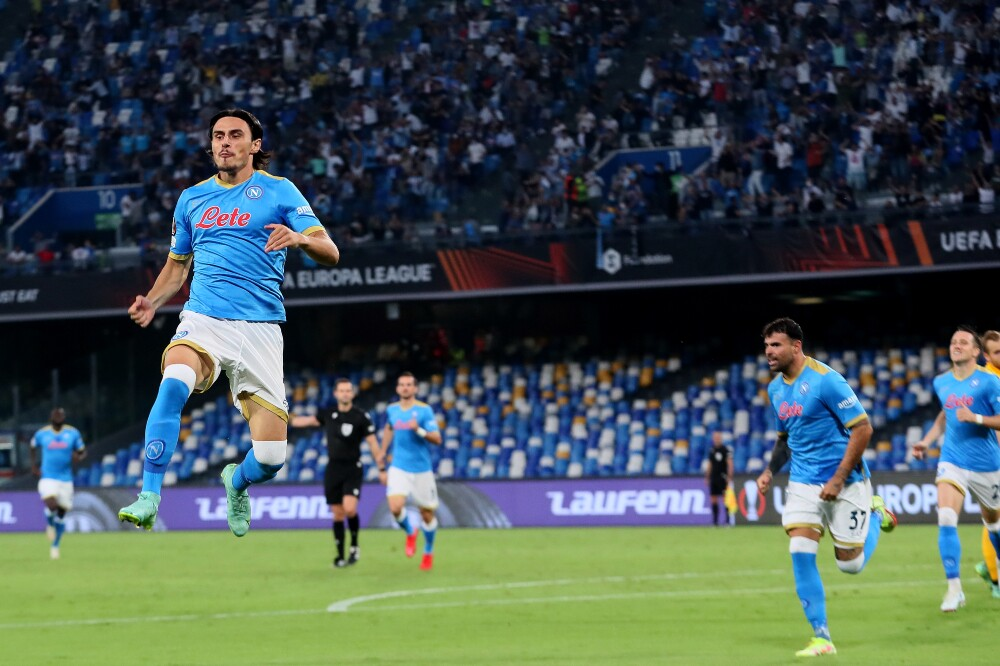 Celebración de Elif Elmas, tras su gol en Europa League