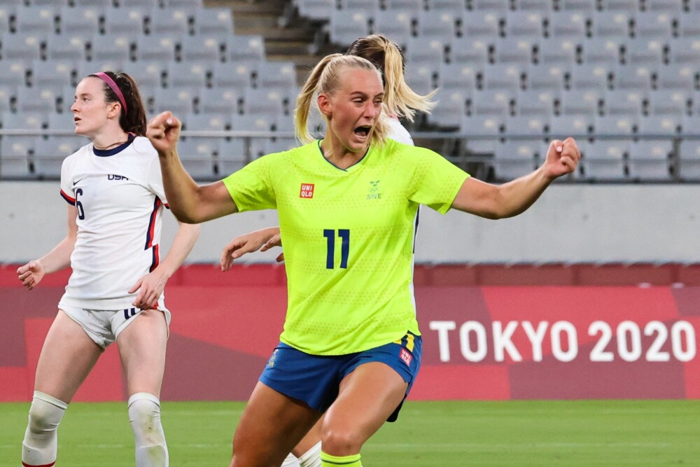 Partido entre Suiza y Estados Unidos Femenino, por los Juegos Olímpicos de Tokyo 2020. AFP.jpg