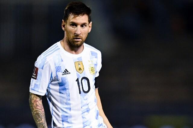 Lionel Messi, en el partido de Venezuela contra Argentina