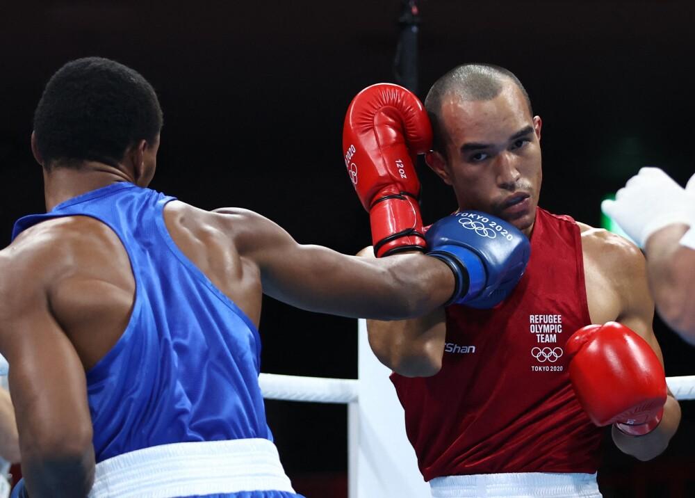 Eldric Sella deportista venezolano refugiado en olimpicos Foto afp.