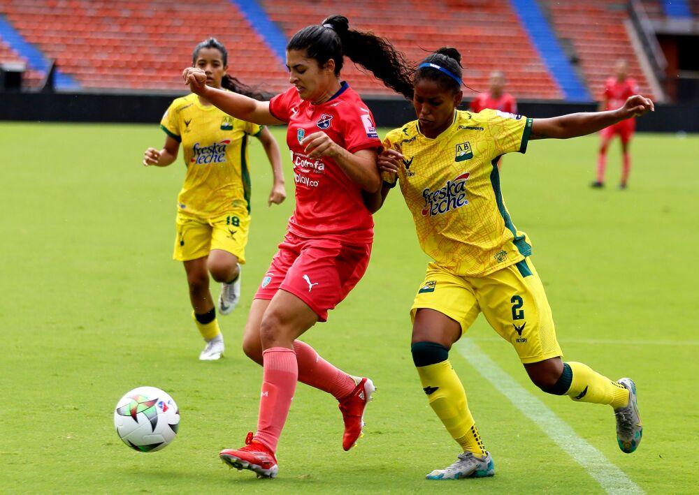 Partido entre Medellín y Bucaramanga, en Liga Femenina. Dimayor.jpeg