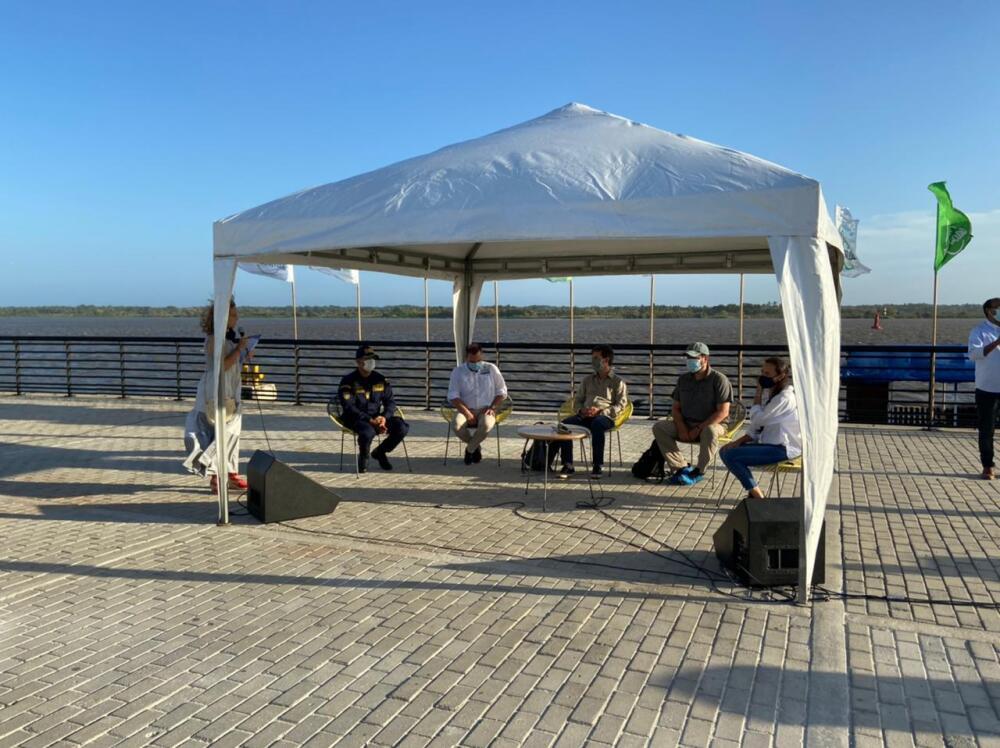 Visita a Barranquilla del viceministro de Turismo, Julián Guerrero Orozco, y el vicepresidente de Procolombia, Gilberto Salcedo.