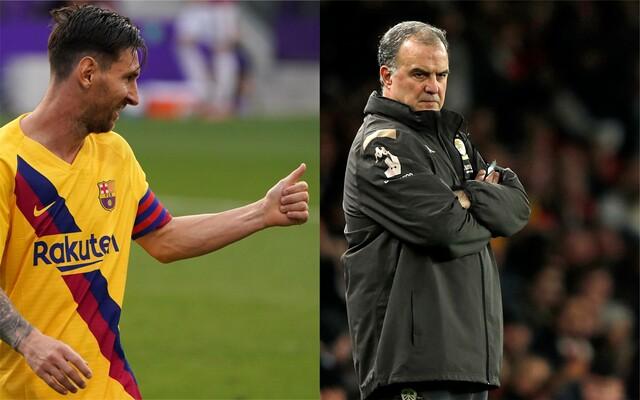 Lionel Messi y Marcelo Bielsa