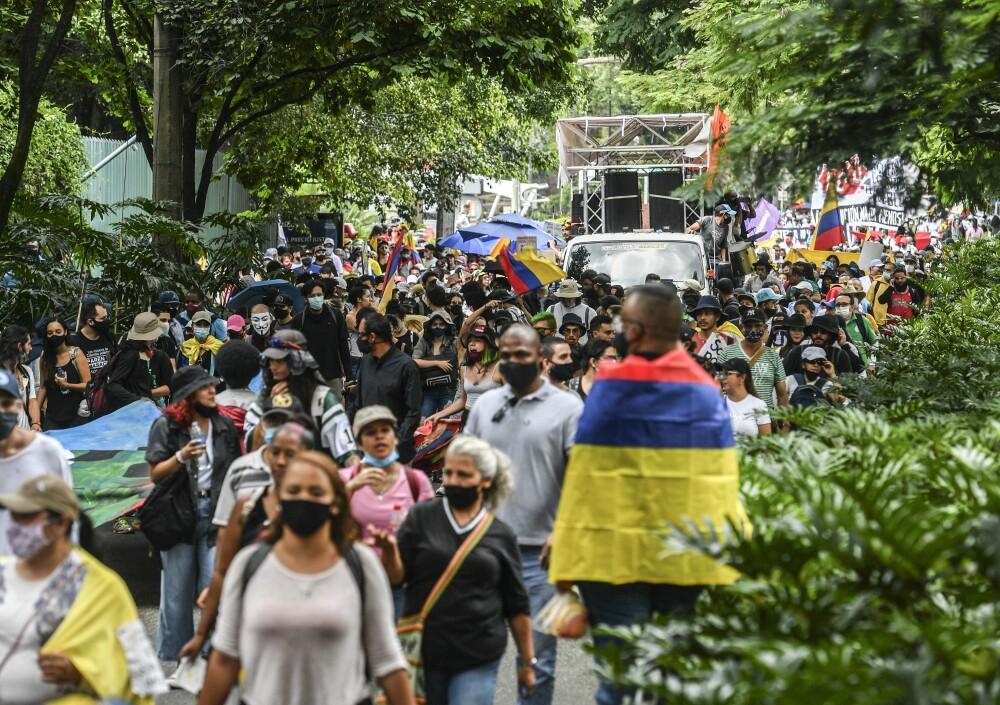marchas en Medellín por el paro nacional