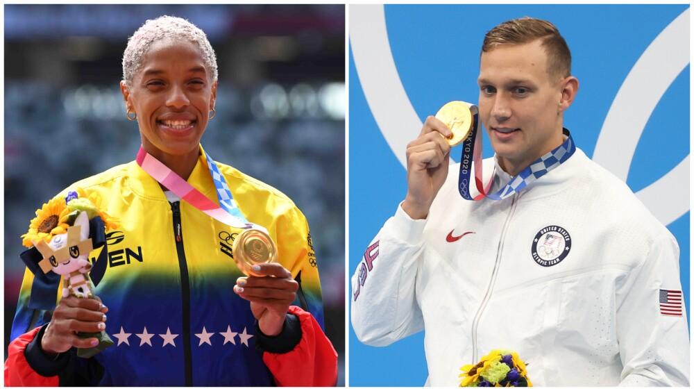 Yulimar Rojas y Caeleb Dressel, en los Juegos Olímpicos de Tokio 2020
