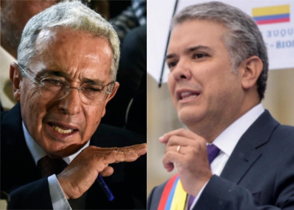 344657_BLU Radio. Álvaro Uribe y Iván Duque Márquez / Foto: AFP