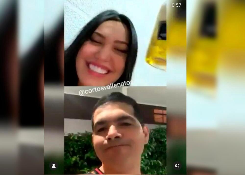 349839_BLU Radio// Peter Manjarrés y Ana del Castillo. Foto: Tomada de video Instagram Eterno Vallenato
