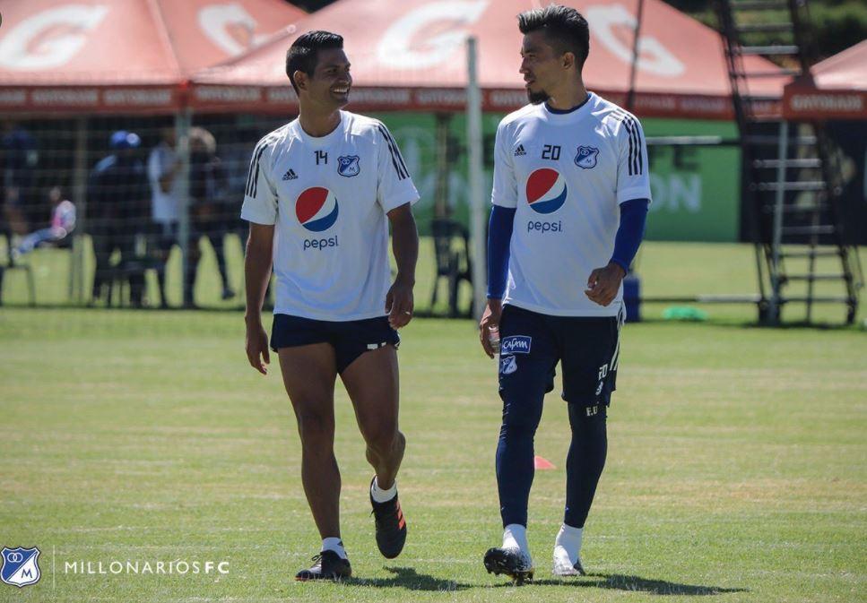 Millonarios David Silva Fernando Uribe 240321 Twitter E.JPG