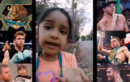 Una niña le hizo una conmovedora petición a Saúl 'Canelo' Álvarez.