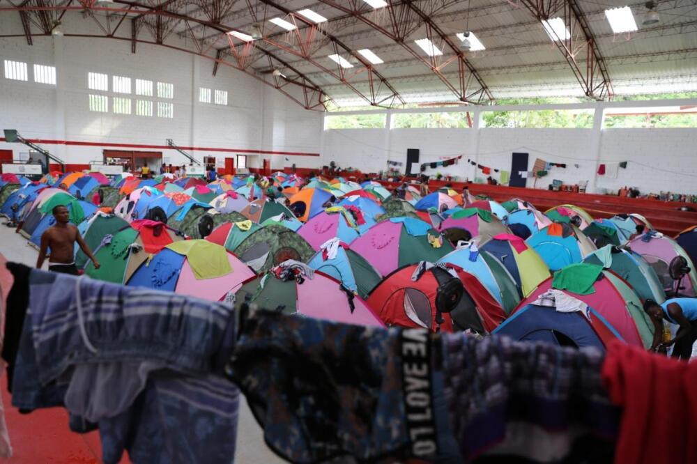 374151_Los migrantes fueron instalados en el coliseo municipal. / Foto Gobernación de Antioquia