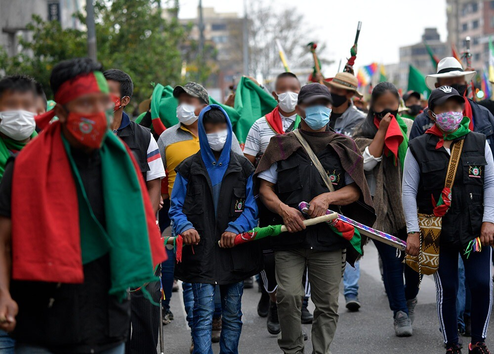 Minga en Bogotá : AFP.jpeg