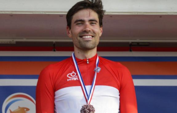 Tom Dumoulin se coronó campeón nacional de contrarreloj de los Países Bajos.