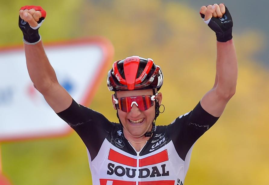 Tim Wellens, ganador de la etapa 5 de la Vuelta a España 2020.