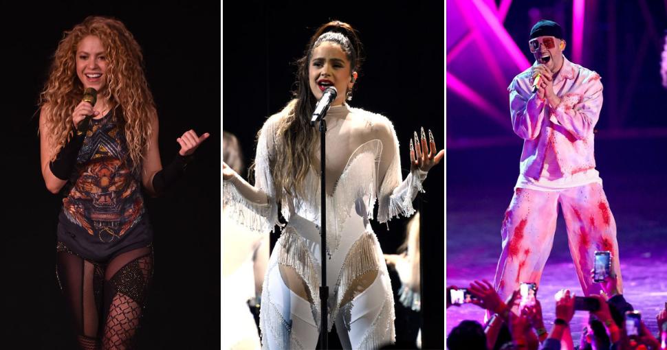 Shakira, Rosalía y Bad Bunny
