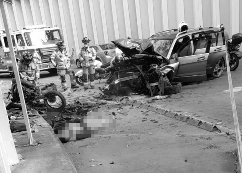 Fatal accidente en el norte Bogotá, deprimido de la calle 94