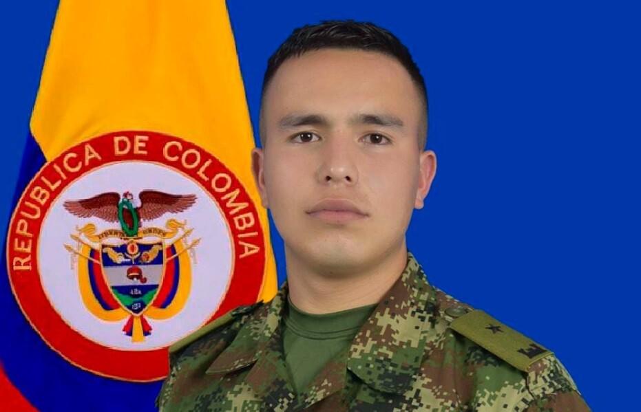 Subteniente Cristián Sebastián Calderón Jaimes, militar secuestrado al parecer por disidencias de las FARC.
