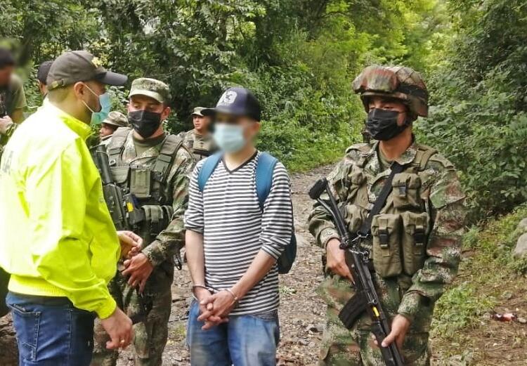 Alias Machín, disidente de las Farc, capturado por desplazamiento en Ituango.jpeg