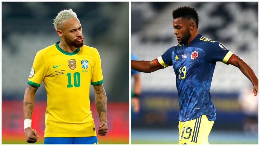 Discusión entre Neymar y Miguel Ángel Borja